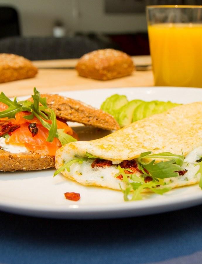 Enkel omelett av eggehviter