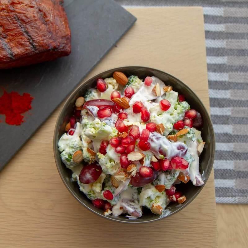 Brokkolisalat med granateple