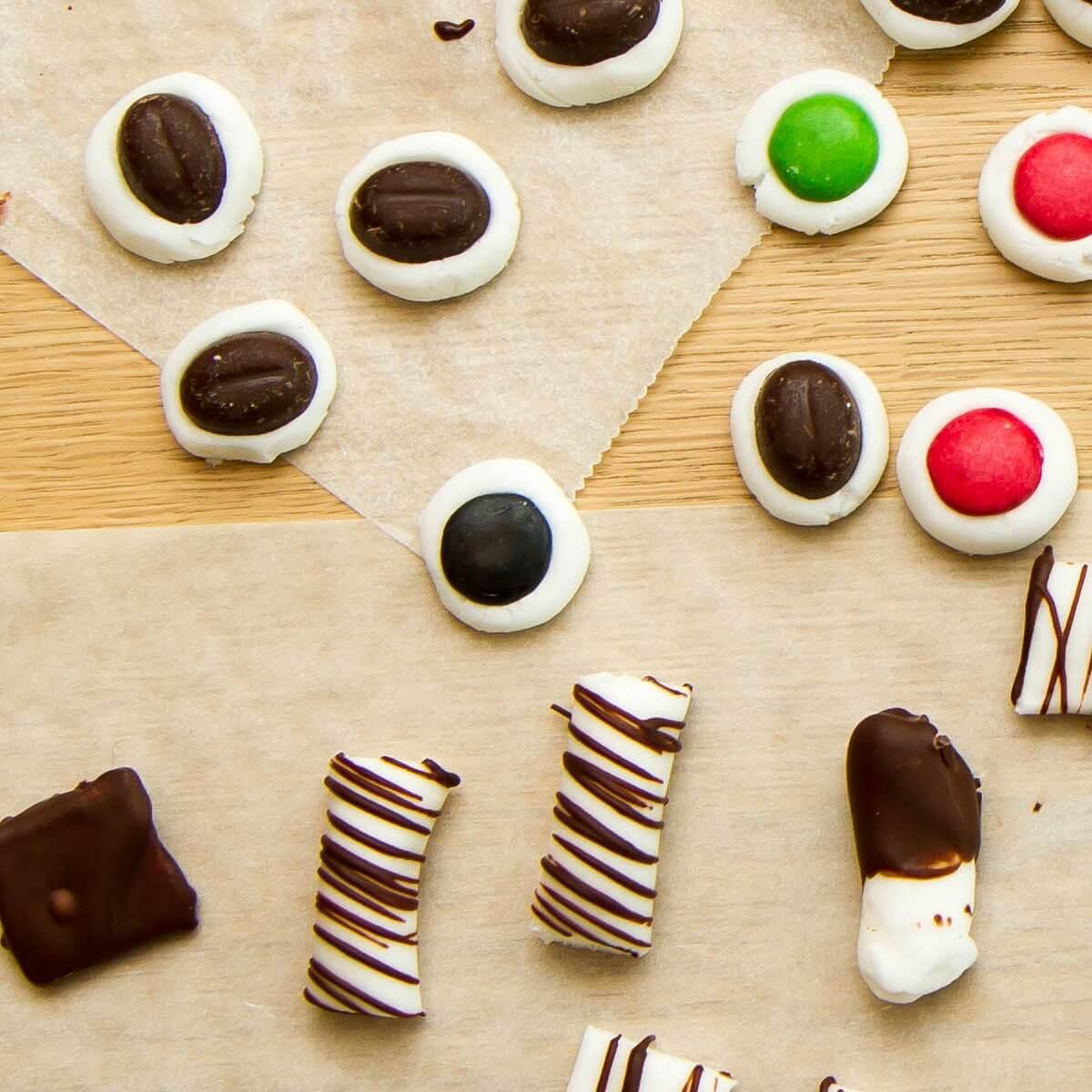 Peppermyntekuler med sjokolade