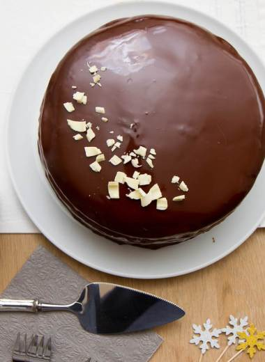 Glasert sjokoladekake