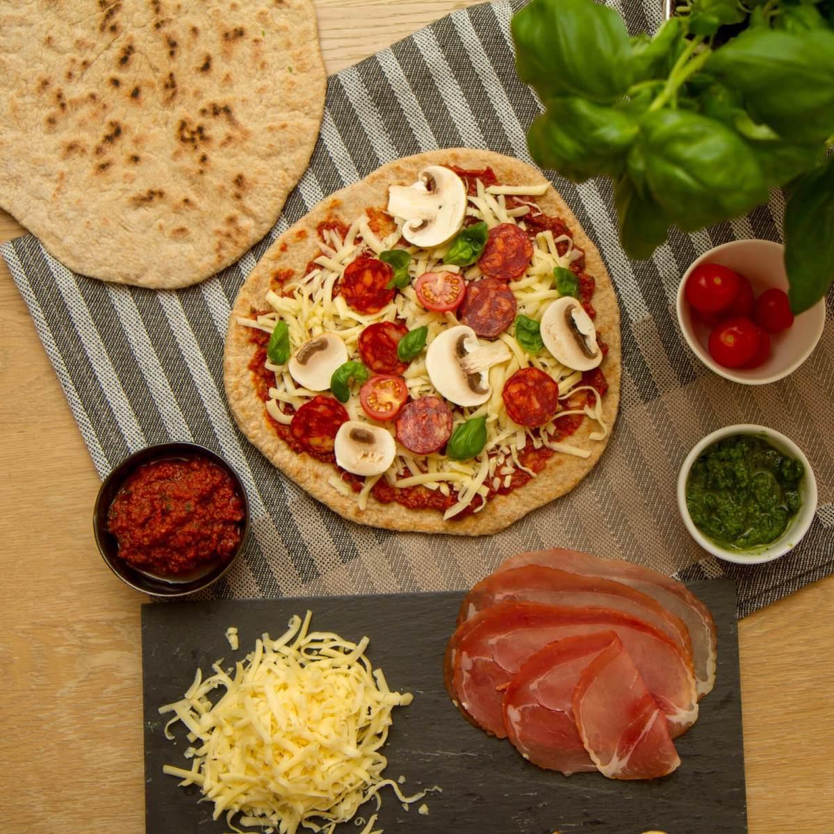 Lettvinte pizzaer på 1-2-3