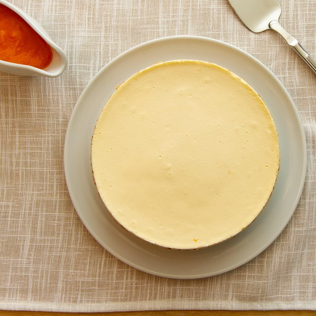 Amerikansk ostekake med rømmelokk