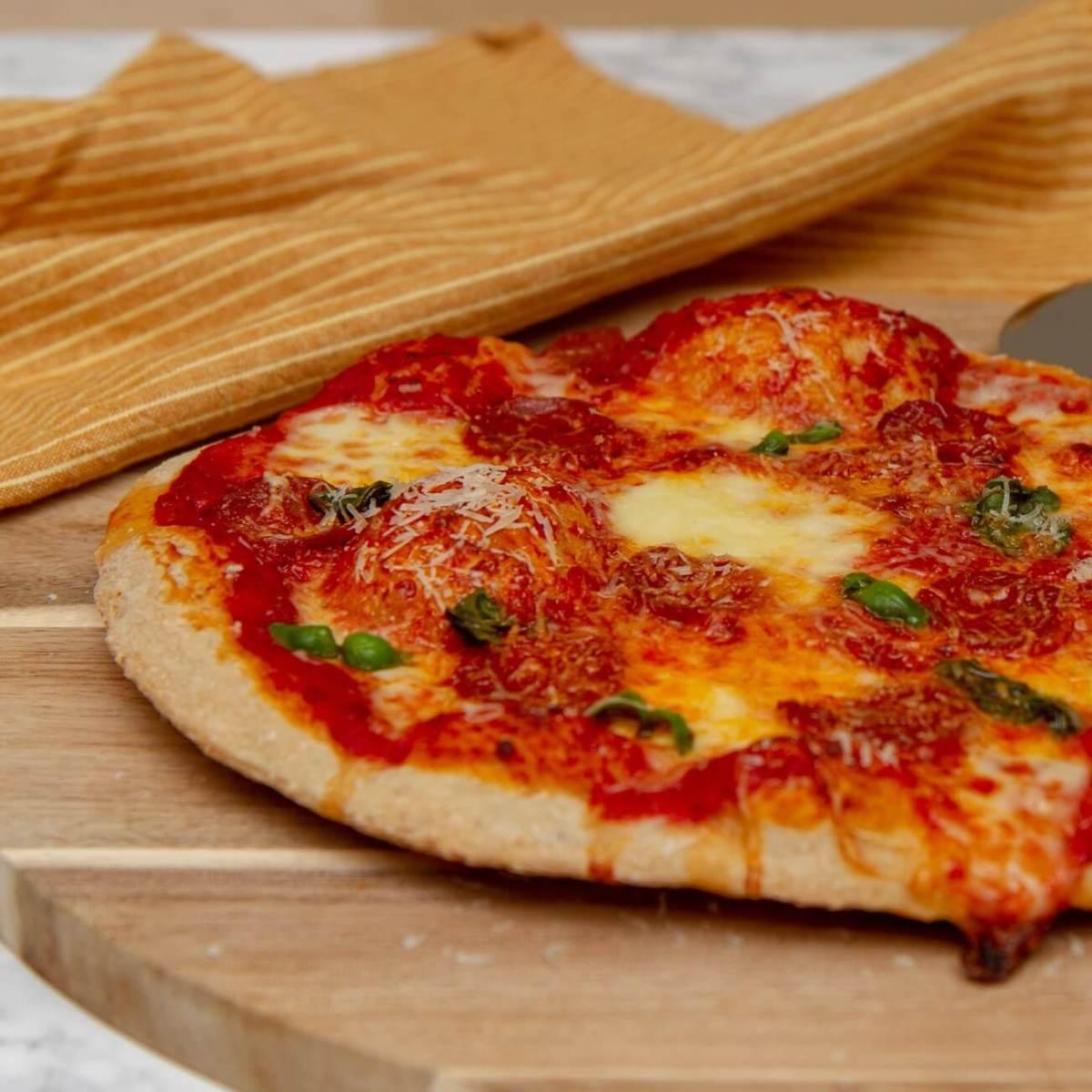 Pizza med chorizo