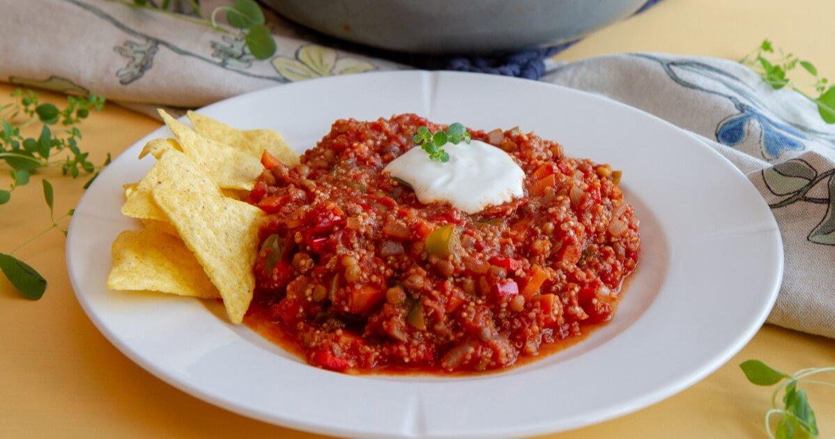 Chili sin carne med quinoa