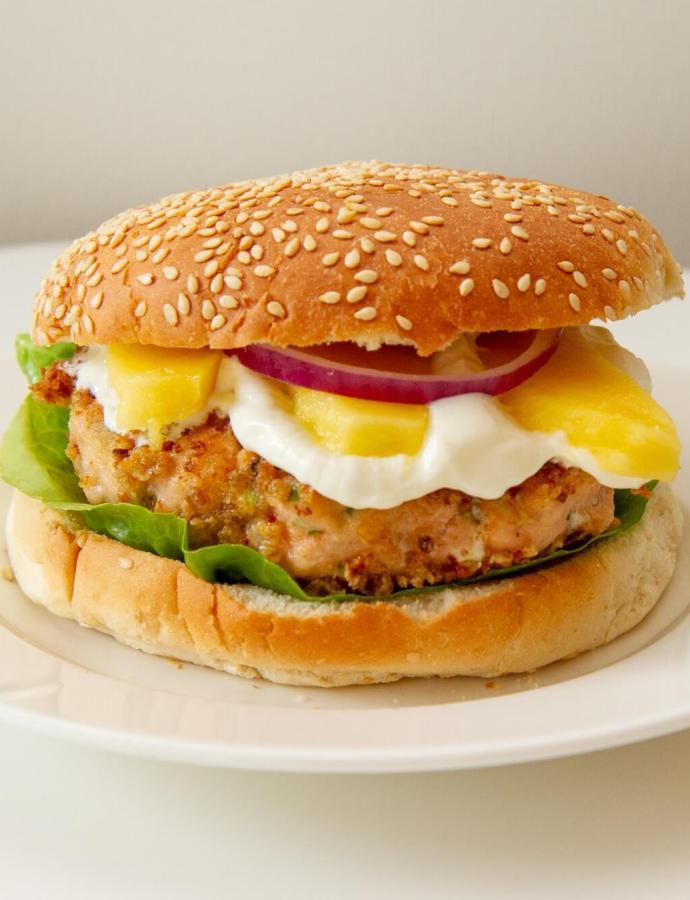 Panert lakseburger