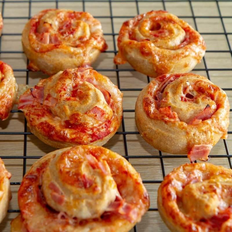 Pizzasnurrer med skinke