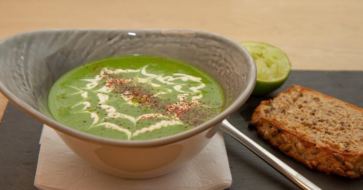 Brokkoli og spinatsuppe