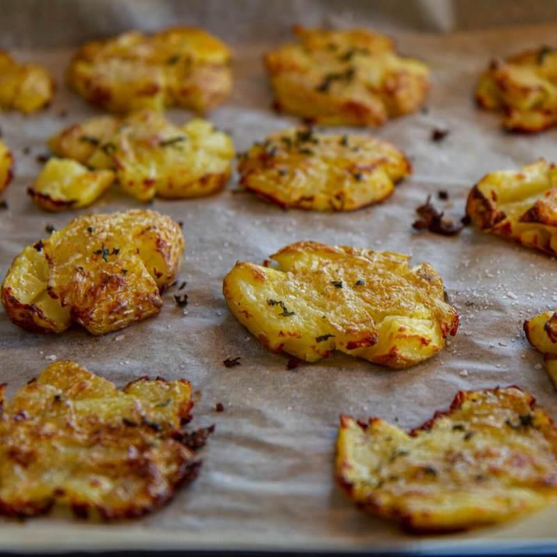Sprø og moste poteter
