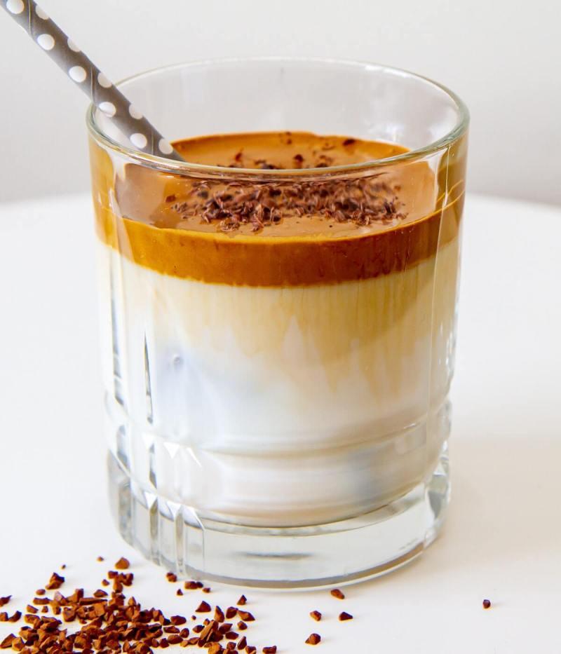 Hjemmelaget dalgona kaffe