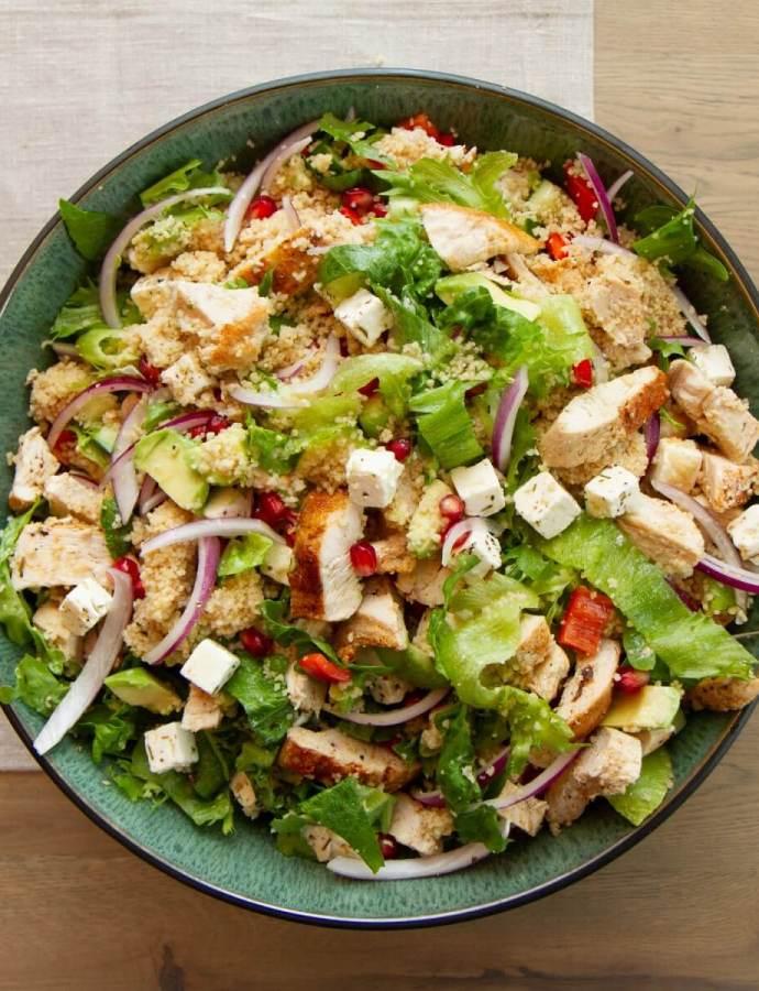 Kyllingsalat med couscous og feta