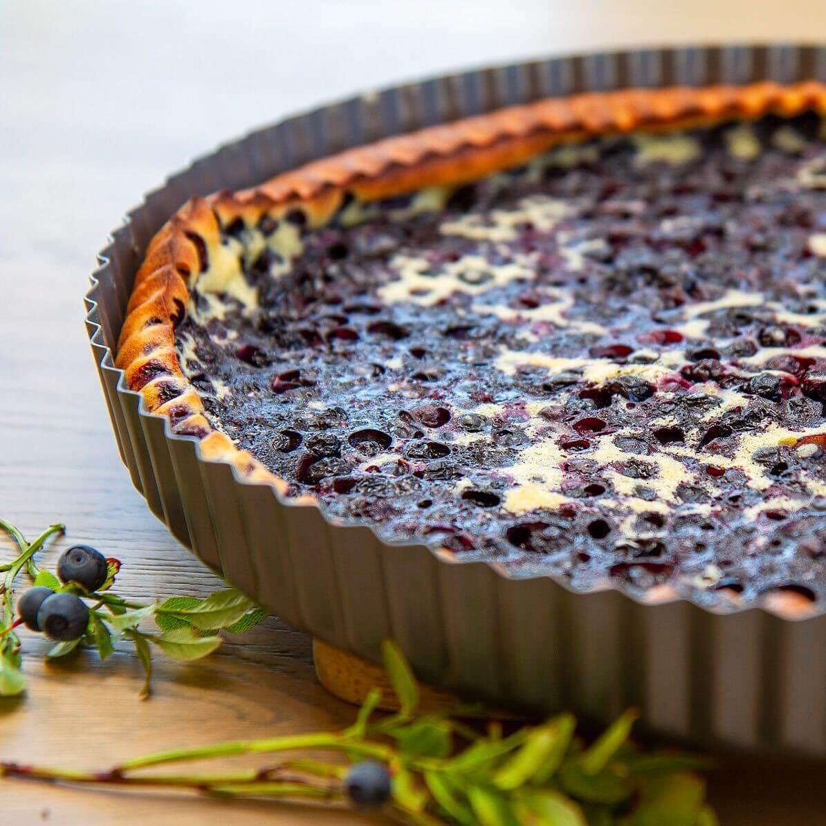 Clafoutis med blåbær