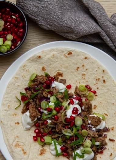 Lammewrap med smak av Midtøsten