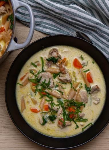 One pot kremet suppe med svin