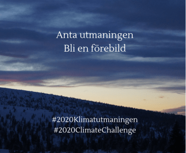 #2020Klimatutmaningen #2020ClimateChallenge – häng med och bli någon att beundra!