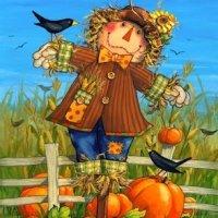 Пугало огородное в веселых детских стихах