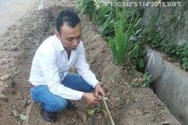 Diduga Proyek Pelebaran Jalan Banjarsari Merusak Saluran Air Drainase
