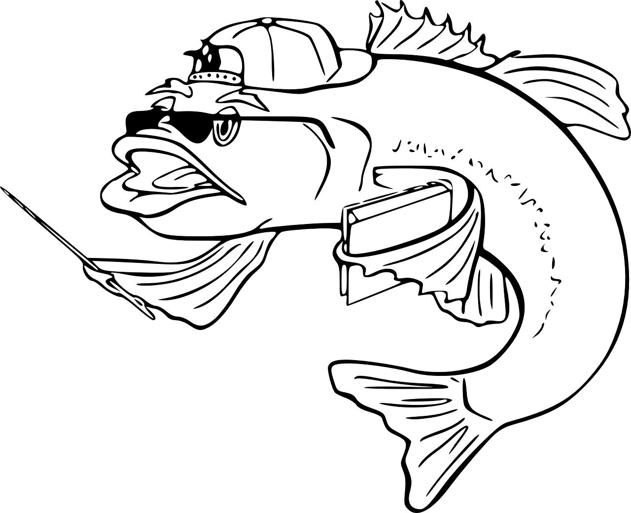 Fish Hook Mouth Cartoon