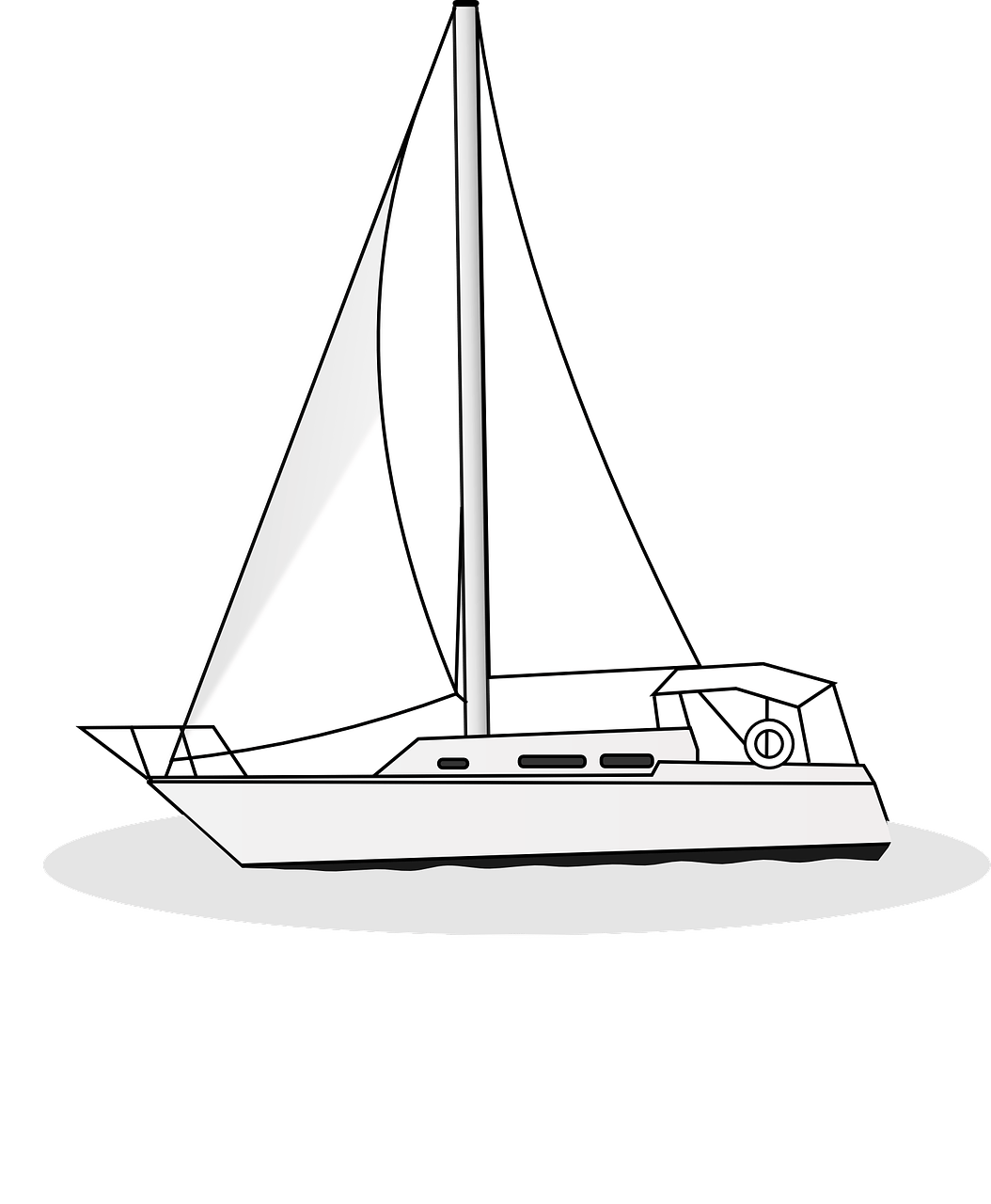 Boat Free Coloring Pages For Kids 12 Pics