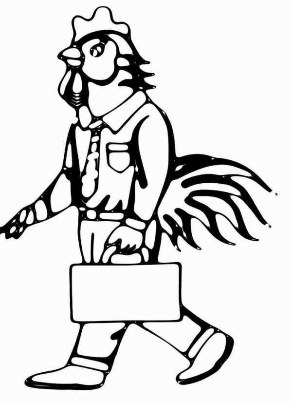 Картинка петуха для раскрашивания – Раскраска петух ...