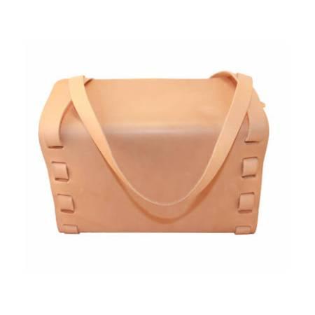 Håndtaske til damer i kernelæder - Det lillle læderi.