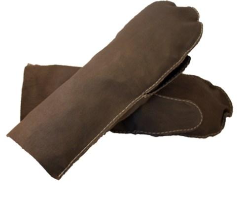 Skindluffer i blød elastisk skind - Det Lille Læderi