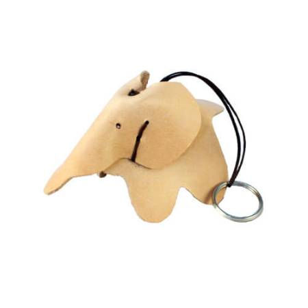 Nøglering elefant - Det Lille Læderi