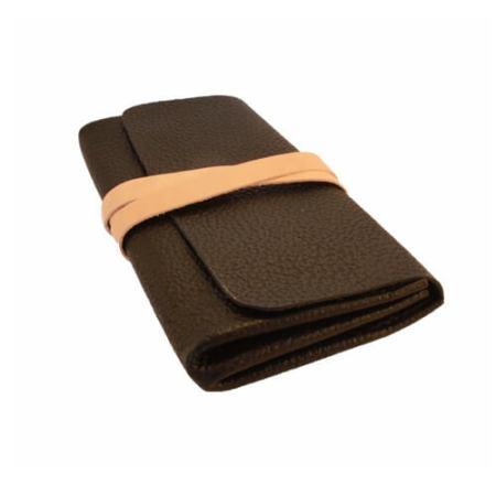 Sort clutch taske med bindestrop.