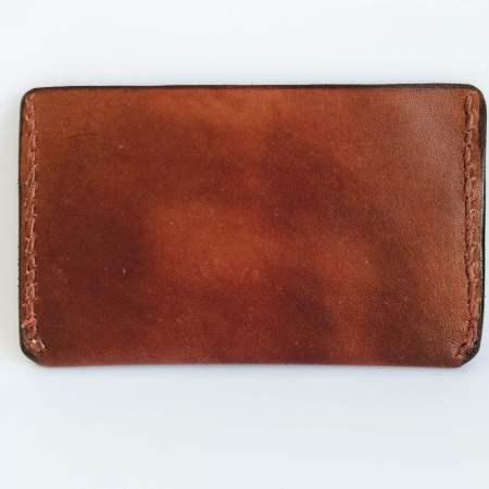 Kortholder6 Det Lille Læderi håndsyet i mørkebrunt læder