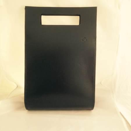 Thyra håndsyet sort kernelædertaske fra Det Lille Læderi 7