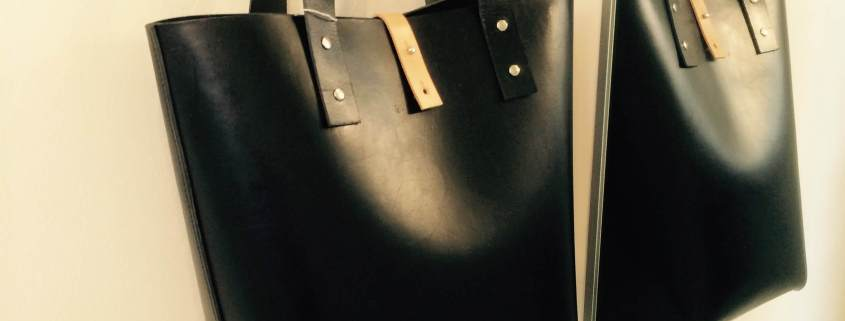 Tote, Signe, håndsyet sort kernelædertaske fra Det Lille Læderi 13