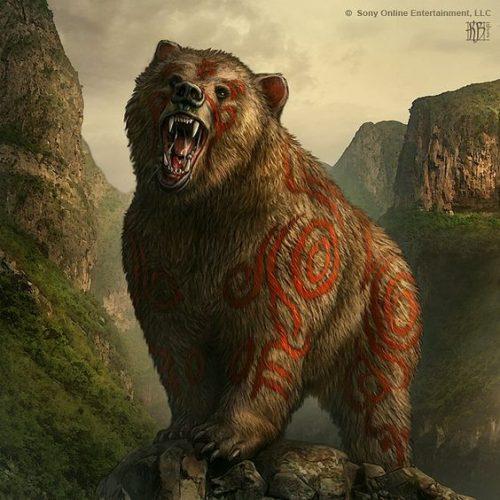 Simboluri animaliere - Ursul este investit cu multiple virtuti apotropaice