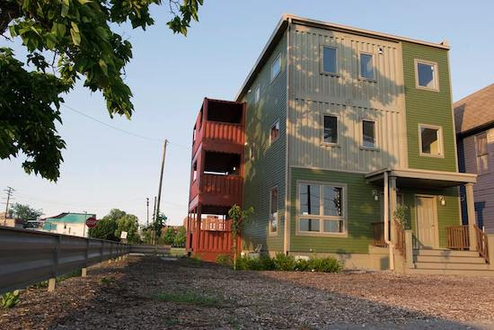 shipping container development rendering in detroit
