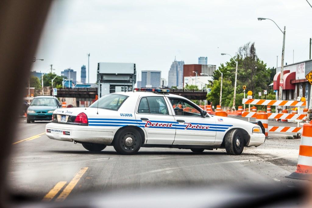 detroit police car photo by thomas hawk