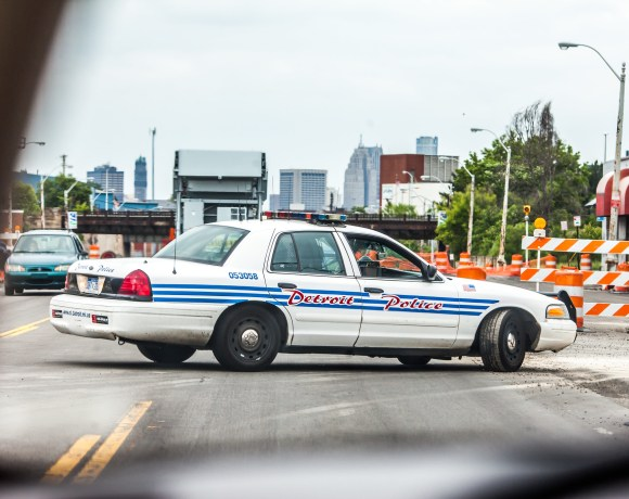 detroit police car photo by thomas hawk