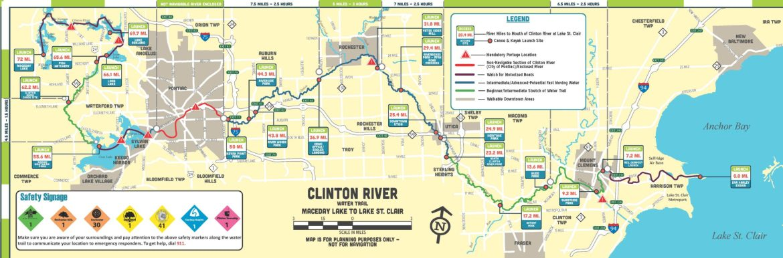 clinton river map