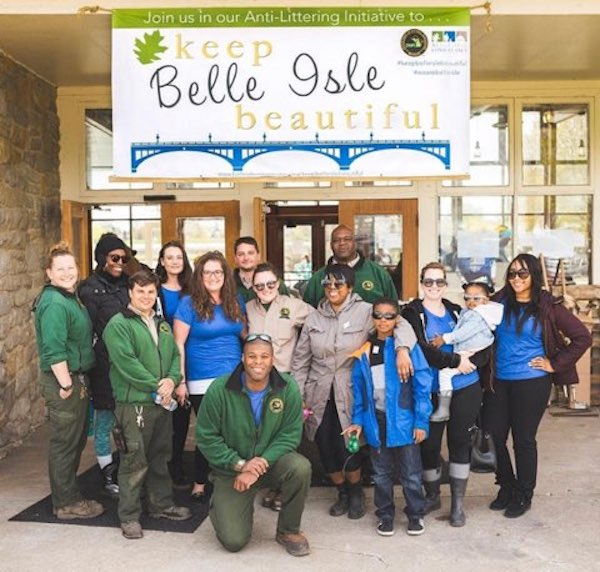 Belle Isle Park staff including Karis Floyd