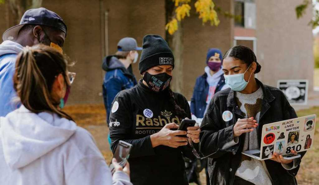 Democrats canvass to engage voters and increase turnout in Detroit ahead of the 2020 presidential election.