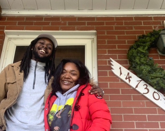 Detroit couple at their home, which they call the Detroit Hoodstead