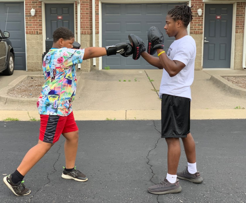Terrence trains a new student at Xtreme 365