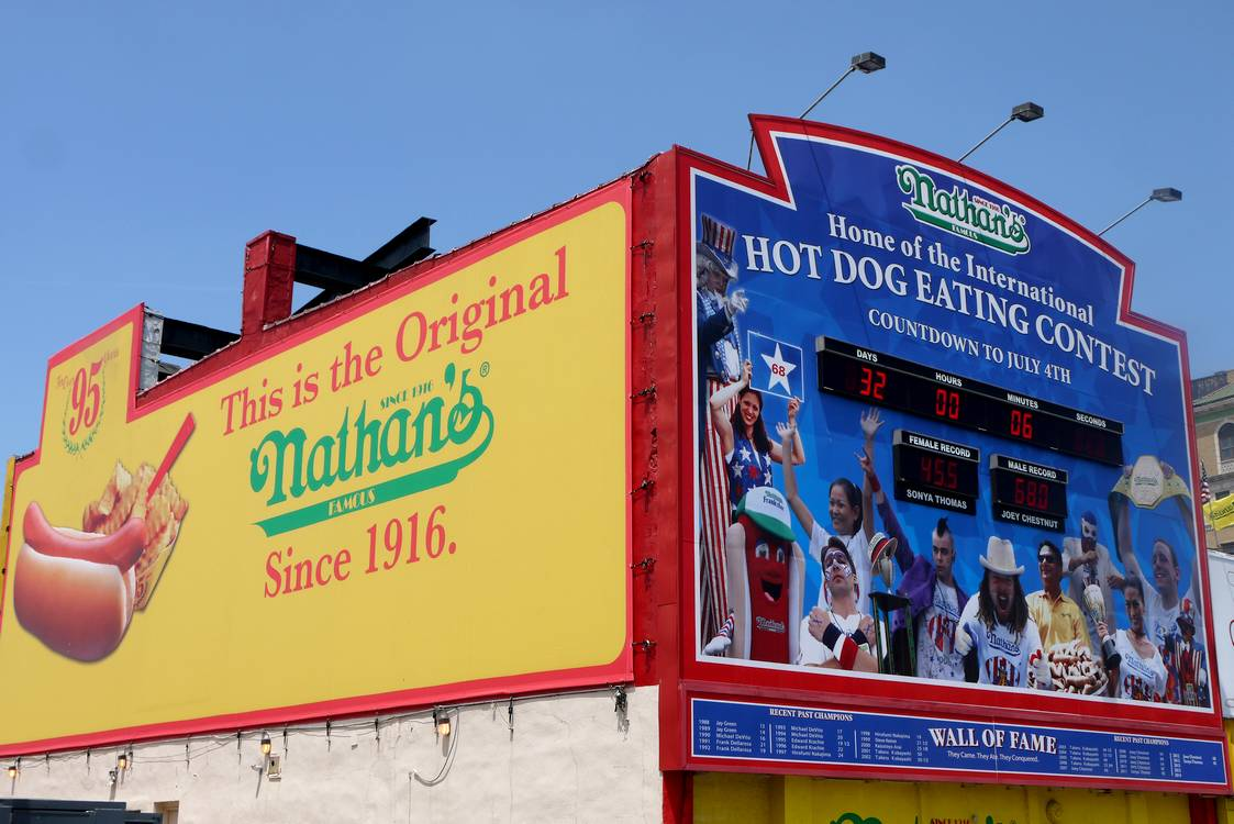 nathan's hotdogs coney island