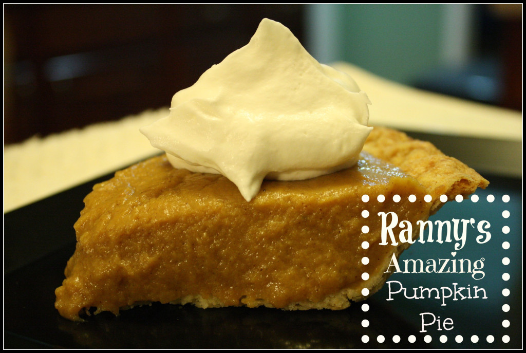 Ranny's Amazing Pumpkin Pie - Detours in Life