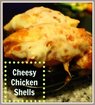 cheesy chicken shells
