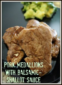 Pork medallions with balsamic-shallot sauce - Detours in Life