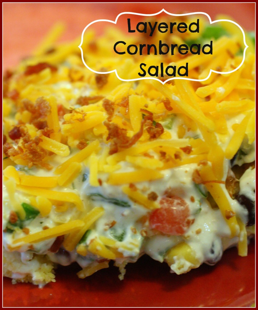 Layered Cornbread Salad - Detours in Life