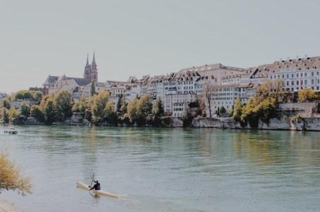 Kayaker on the Rhine