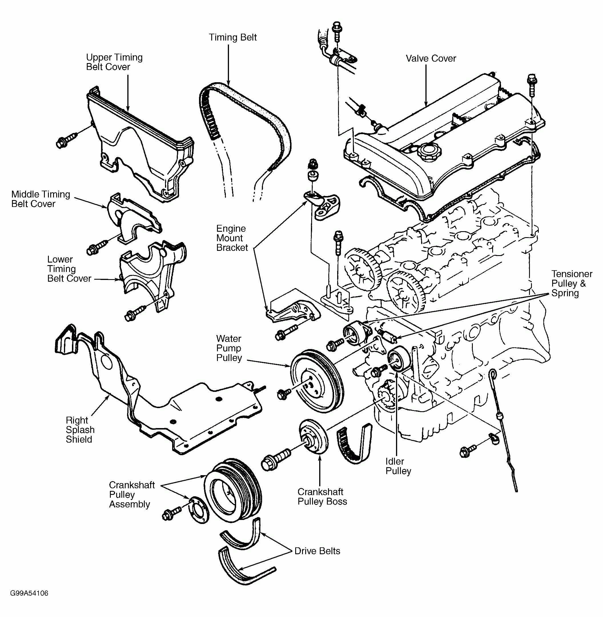2002 mazda protege5 engine diagram 2002 mazda protege engine diagram 1997 mazda protege serpentine belt of