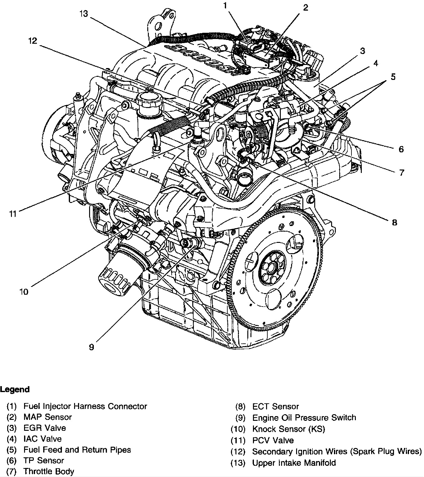 V6 Camshaft Diagram