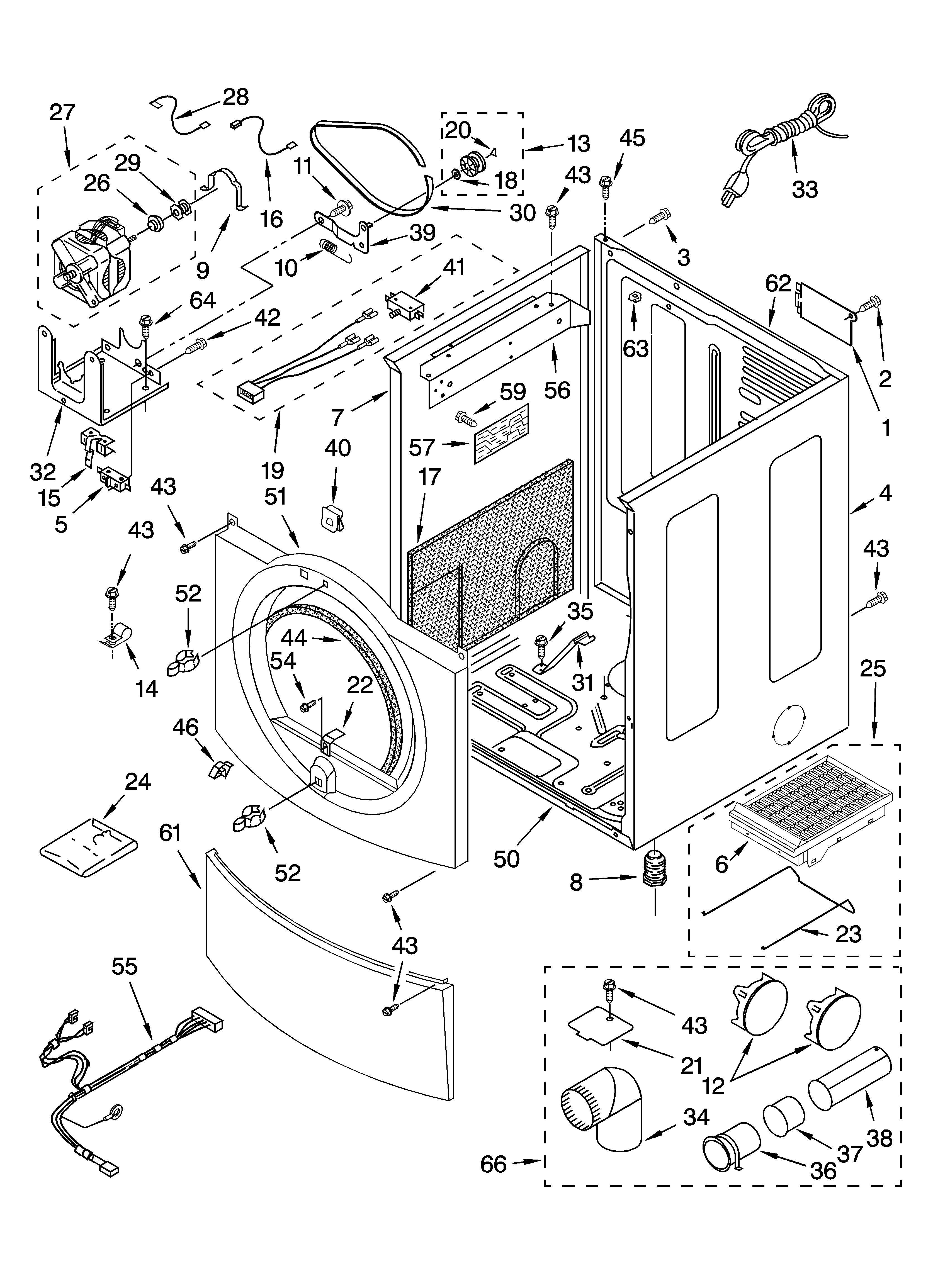Admiral Dryer Parts Diagram