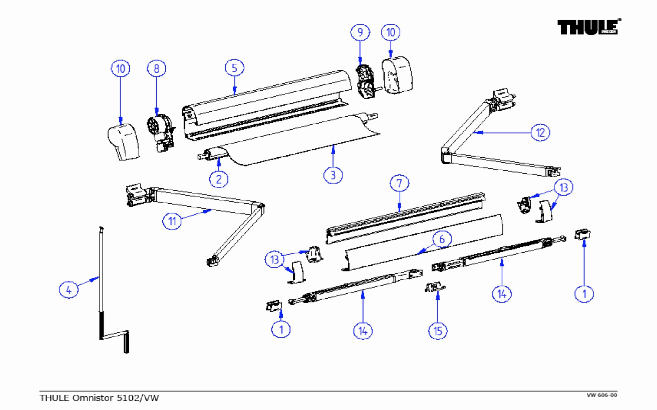 Carefree Awning Parts Diagram