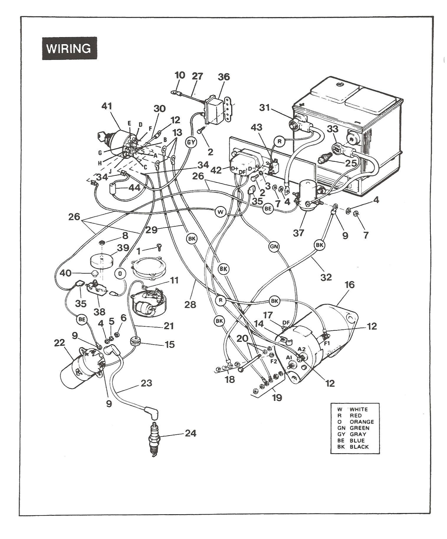 Ezgo Electric Golf Cart Wiring Diagram